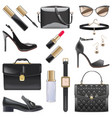 black female accessories isolated on white vector image