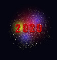 bright colorful fireworks on a dark background vector image
