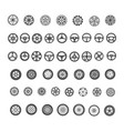 car parts icons set vector image vector image