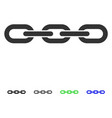 chain flat icon vector image vector image