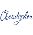 Christopher name lettering tinsels