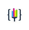 code paint logo icon design vector image