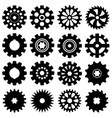 collection of gear icons vector image vector image