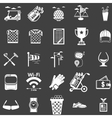 collection of white icons for golf vector image vector image
