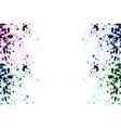 colorful explosion watercolor paint splatter vector image