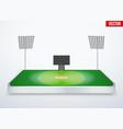 Concept of miniature tabletop cricket stadium vector image vector image