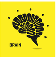 Creative brain abstract logo design vector image vector image