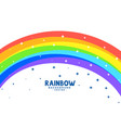curve rainbow arc with stars background vector image vector image