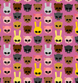 Cute skulls of animals rabbit and cat bear and pig vector image vector image