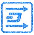 dash send arrows framed stamp vector image vector image