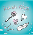 dental set vector image vector image
