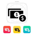 Dollar banknote and coin icon vector image vector image