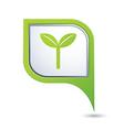 eco GREEN pointer vector image vector image