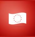 flag of european union icon eu circle symbol vector image vector image