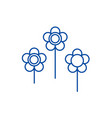 Flowers line icon concept flowers