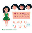 girl character for your scenes vector image vector image
