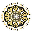 golden mandala decoration ornament oriental vector image vector image