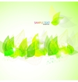 green leaves background vector image vector image