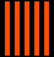 halloween pattern black and orange vertical strips vector image vector image