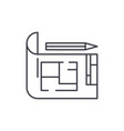 house design line icon concept house design vector image vector image