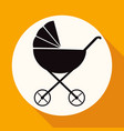icon baby carriages on white circle with a long vector image vector image