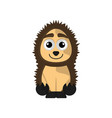 isolated cute porcupine on white background vector image vector image