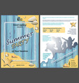 leaflet template summer party vector image