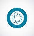 loading icon bold blue circle border vector image vector image