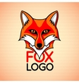 logo badge sign template with red fox vector image vector image