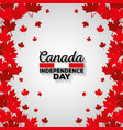 maple leafs canadian pattern background vector image