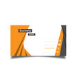 modern orange and black business card image vector image