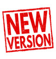 new version sign or stamp vector image vector image