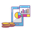 online stock exchange vector image