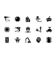 pack of artificial intelligence glyph icon vector image vector image