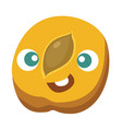 peach cartoon character vector image