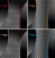 perforated metal backgroundset vector image vector image