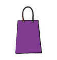 purple paper shopping bag gift handle element vector image vector image