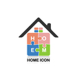 Real estate logocreative house logo vector image
