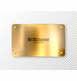 realistic shiny metal banner brushed steel plate vector image vector image