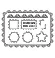 set of hand drawn doodle border vector image vector image