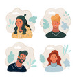 set people faces icons vector image