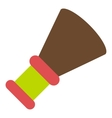 Shaving brush icon flat style vector image vector image