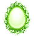 spring flower frame egg vector image vector image