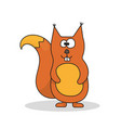 squirrel is a forest animal animals single icon vector image vector image