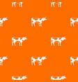 switzerland cow pattern seamless vector image vector image