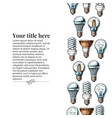 template with different light bulb vector image vector image