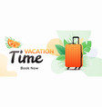 vacation time horizontal banner vector image
