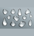 water drops isolated on transparent background vector image