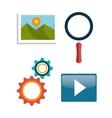 Web design development vector image vector image