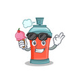 with ice cream aerosol spray can character cartoon vector image vector image